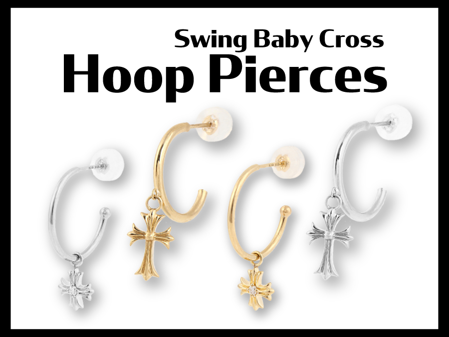 【VJ】Swing Baby Cross Hoop Pierces