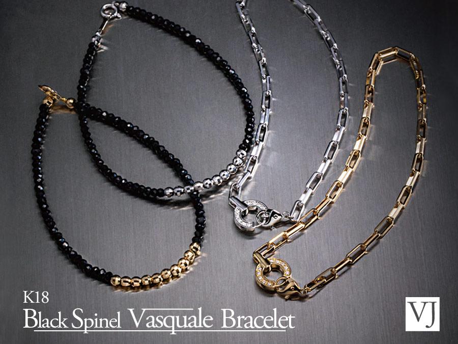 K18 Black Spinel Vasquale Bracelet