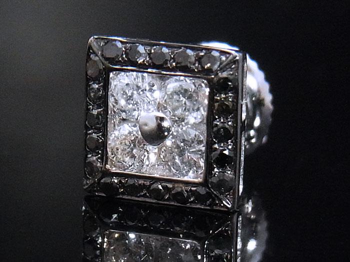 画像1: Joe Rodeoコレクション 14K ホワイトゴールド ダイヤモンド0.34ctピアス※1個販売となります