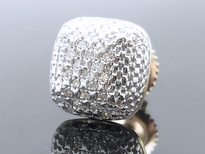 画像1: 10k イエローゴールド ダイヤモンド0.075ctピアス※1個販売となります。