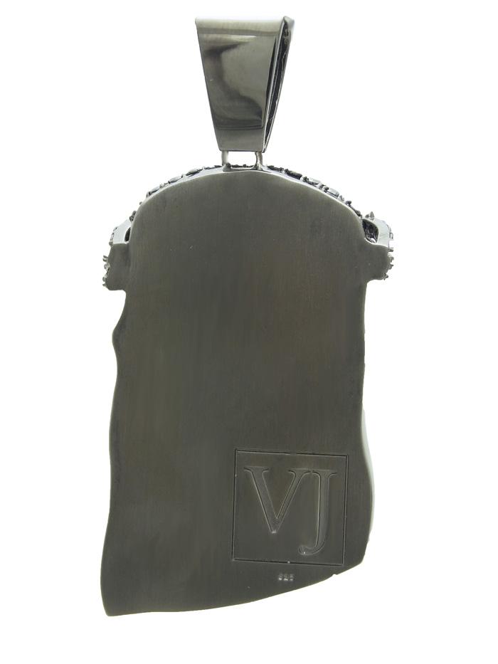 画像3: VJ ジーザスペンダント オールブラック ブラックCZ※チェーンをお選びできます【受注生産/納期:約1ヶ月】