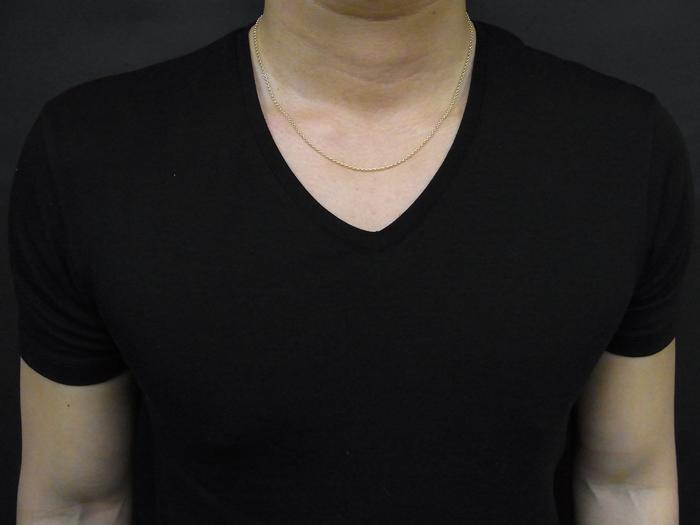 画像5: 18kイエローゴールド ロールチェーン(ハーフランドチェーン) 2mm幅 50cm  18金 ネックレス
