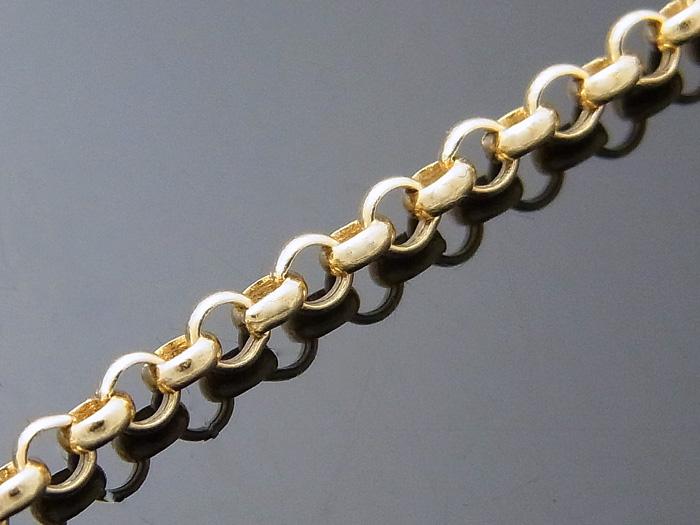 画像2: 18kイエローゴールド ロールチェーン(ハーフランドチェーン) 2mm幅 60cm  18金 ネックレス