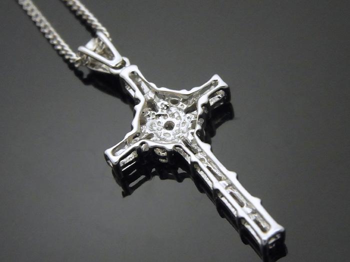 画像3: AQUAMASTERコレクション 14K ホワイトゴールド  ダイヤモンド0.31ct クロス ペンダント 14金