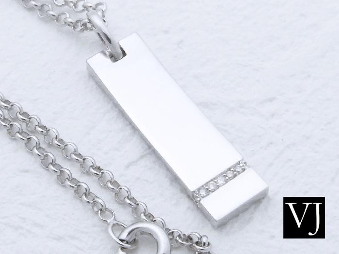 画像1: VJ シルバー925 シューティングスター ダイヤモンド プレートペンダント SV