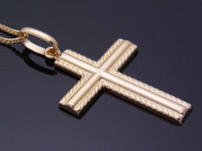 画像3: 18k イエローゴールド クロス ペンダントチェーンセット 18金 ネックレス※チェーン長さ40cm.45cm.50cmからお選び頂けます