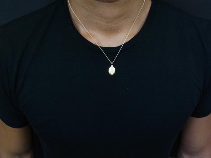 画像4: 18k イエローゴールド  マリア オーバル メダイ ペンダントチェーンセット 18金 ネックレス※長さ40cm.45cm.50cmからお選びできます。
