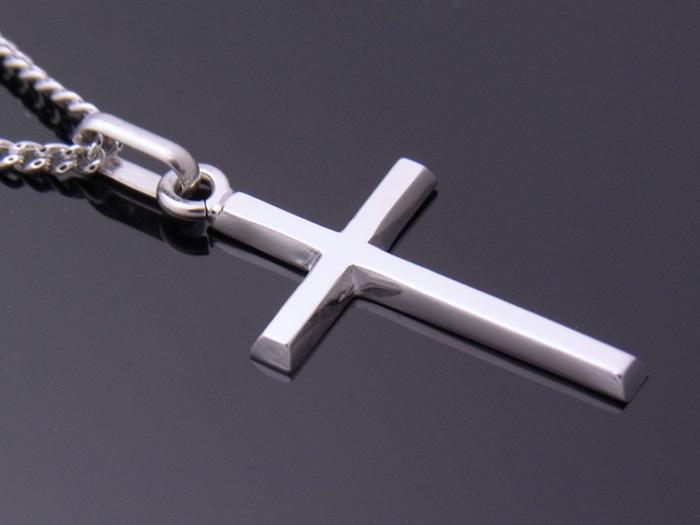 画像3: 18k ホワイトゴールド クロス ペンダントチェーンセット 18金 ネックレス※長さ40cm.45cm.50cmからお選びできます。