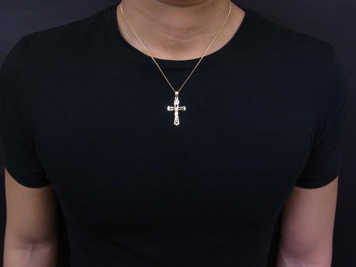 画像3: 18k イエローゴールド ジーザス クロス ペンダントチェーンセット 18金 ネックレス※チェーン長さ40cm.45cm.50cmからお選び頂けます