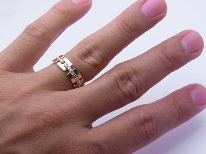 画像4: 18Kイエローゴールド ハーフリンク リング ダイヤモンド 0.25ct 18金 指輪【受注製作】ご注文後3週間前後でお届け。