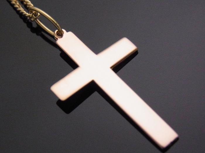 画像2: K18 イエローゴールド ピンクゴールド デザイン クロス ペンダント