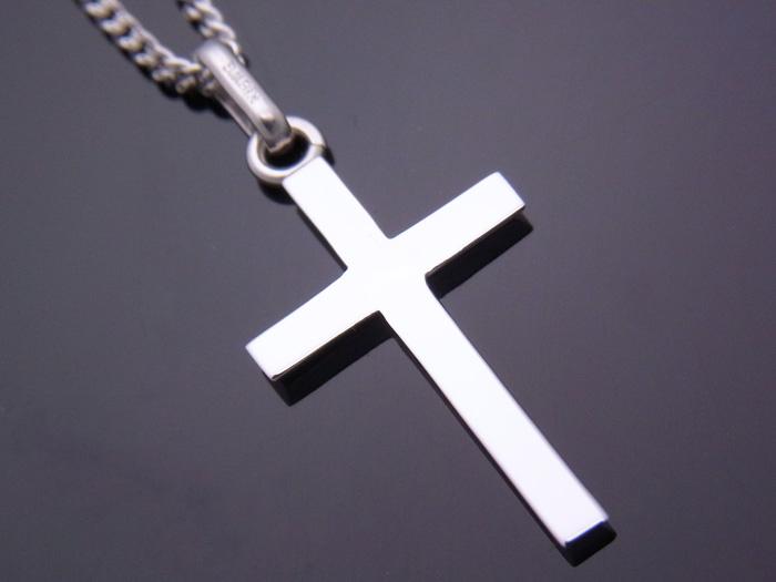 画像2: 18k ホワイトゴールド クロス ペンダントチェーンセット 18金 ネックレス※長さ40cm.45cm.50cmからお選びできます。