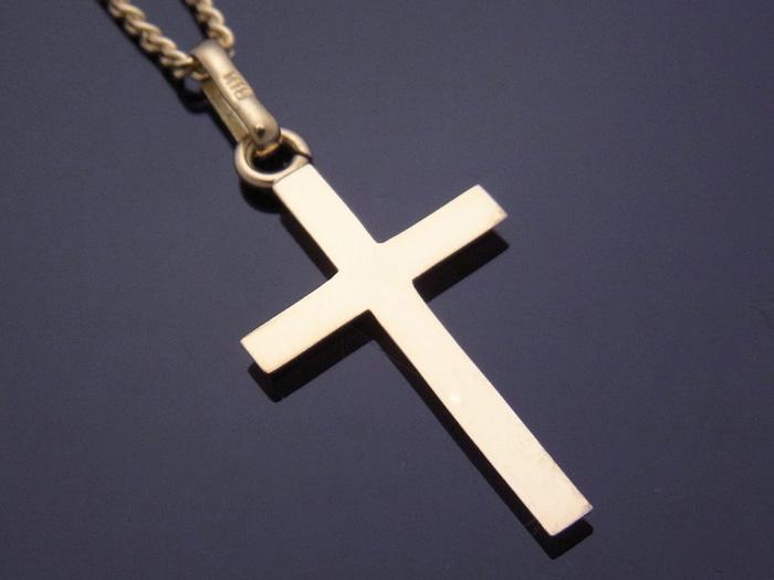 画像2: 18k イエローゴールド クロス ペンダントチェーンセット 18金 ネックレス※長さ40cm.45cm.50cmからお選びできます。