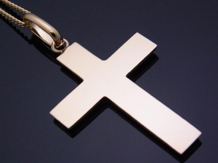 画像2: 18k イエローゴールド クロス ペンダントチェーンセット 18金 ネックレス※チェーン長さ40cm.45cm.50cmからお選び頂けます