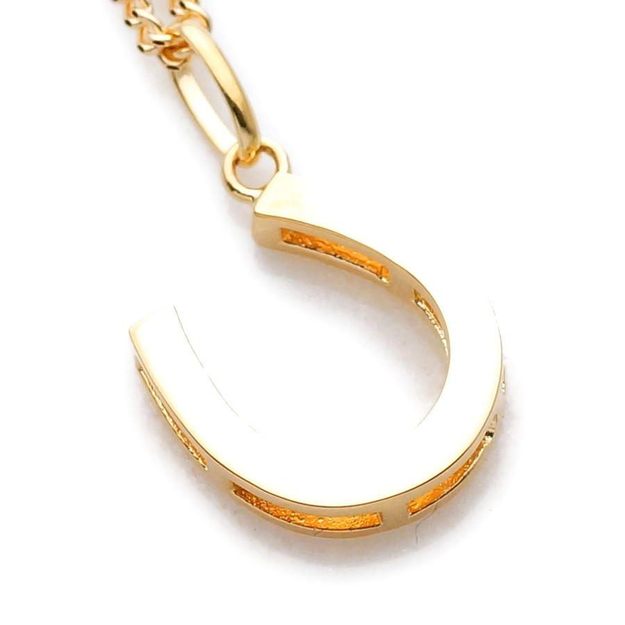 画像2: K18 イエローゴールド メンズ ホースシュー ペンダントチェーンセット 18金 ネックレス※チェーン長さ40cm.45cm.50cmからお選び頂けます