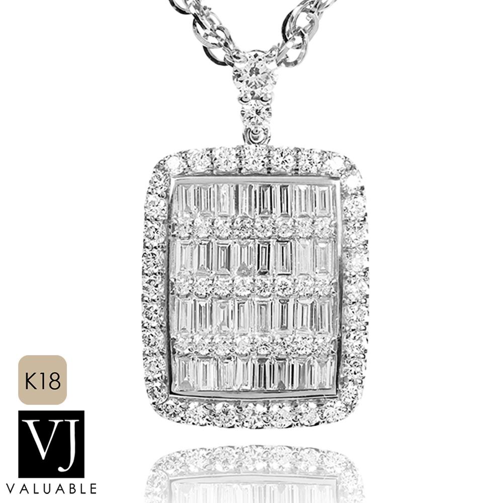 画像1: VJ【ブイジェイ】K18 ホワイトゴールド  ダブル クラッシュ ダイヤモンド アーリヤ ペンダント※ペンダントのみ