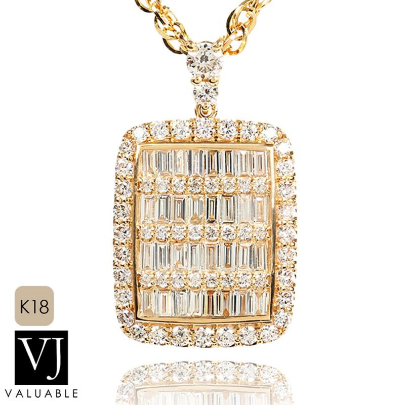 画像1: VJ【ブイジェイ】K18 イエローゴールド  ダブル クラッシュ ダイヤモンド アーリヤ ペンダント※ペンダントのみ
