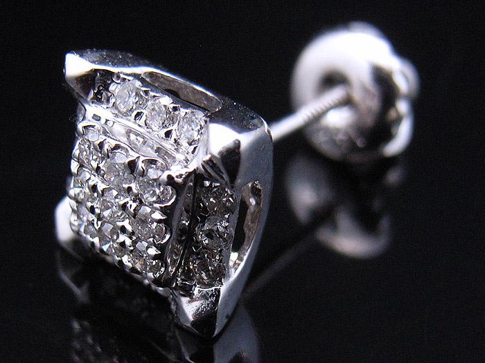 画像1: Joe Rodeo2010コレクション 14K ホワイトゴールド ダイヤモンド0.23ctピアス※1個販売となります。
